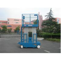 Wholesale Blue Hydraulic Aerial Work Platform Dual Mast With 10m Working Height from china suppliers