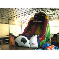 Exciting Inflatable commercial dry slide football sport games themed inflatable standard slide for sale