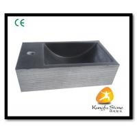 China Xiamen Kungfu Stone Ltd supply Grey Andesite Stone Sink For Indoor Kitchen,Bathroom for sale