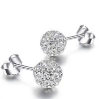 Wholesale 925 Silver Fashion Crystal Ball Stud Earrings(EEBALL01) from china suppliers