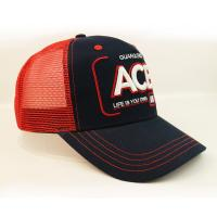 Buy cheap Anniversary Red Mesh 5 Panel Trucker Cap Custom Logo 3D Letter Embroidery Blank from wholesalers