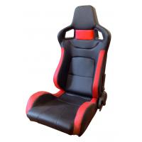 Wholesale Comfortable PU Leather Sport Auto Racing Seats / Black And Red Racing Seats from china suppliers