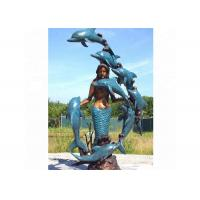 Wholesale Life Size Western Bronze Statue Dolphin And Mermaid Sculpture For Casting Finish from china suppliers