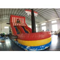 Wholesale Red Inflatable Pirate Boat / Inflatable Pirate Ship Fun City Inflatable Playground from china suppliers