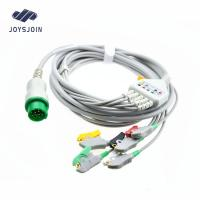 China Biolight 5 lead clip ECG cable and leadwires, TPU material patient cable for ecg machine for sale
