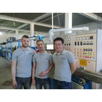 China 380v Wire And Cable Extrusion Machine , Algeria Power Cable Making Equipment for sale