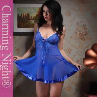 Wholesale 8 Colors Elastic Mesh Fabric Nylon Transparent Lace Sexy Babydoll Lingerie from china suppliers