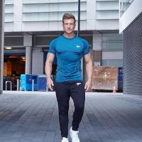 China New Design Men's GYM Wear Dry Fit Excercise Trainning Short Sleeve T Shirt for sale