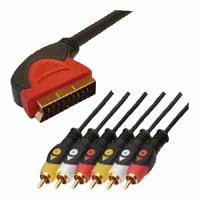 Wholesale 21 Pin SCART to 6 RCA Cable from china suppliers