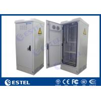 China Waterproof Sinlgle Wall Outdoor Power Battery Cabinet / IP55 Outdoor Telecom Cabinet for sale