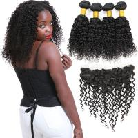 Wholesale 8A Virgin Malaysian Remy Deep Curly Human Hair Weave No Synthetic Hair from china suppliers