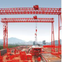 Wholesale QM Truss Girder Double Beam Overhead Gantry Electric Rail Mounted / 40T- 42M - 20M / from china suppliers