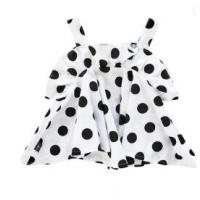 China White Infant Baby Clothes 2Y / 3Y / 4Y Slip Dress With All Over Prints on sale