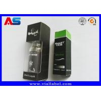 China E Liquid Silver Foil 30ml 10ml Small Storage Boxes For Vials With Display Window for sale