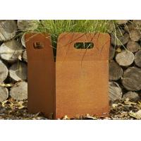 Wholesale Various Size Custom Corten Steel Planters For Yard / Garden Weather Resistant from china suppliers