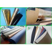 China 0.3 0.55 0.8mm Wear Resisting Rose Gold Color Washable Kraft Paper For Child Bags for sale
