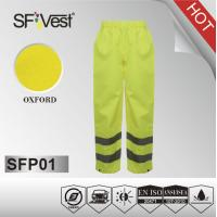 Buy cheap EN ISO 20471 300D oxfords hi vis workwear reflective safety Pants with PU or PVC coating from wholesalers