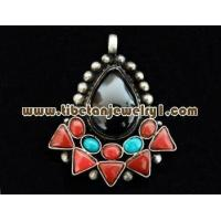 Wholesale Silver and Natural Gem Pendant H-560 of Tibetan silver Amulet from china suppliers