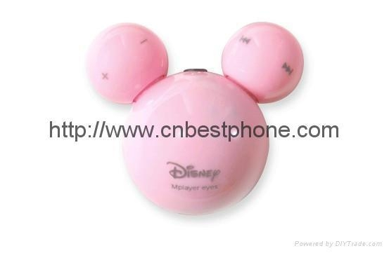 Quality cute mickey 4th Eyes Mickey Mouse Earphone MP3 Player for sale