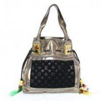Wholesale Louis Vuitton LV M85506 S/S 2009 Runway Tote LightGold & Suede Bag Black from china suppliers