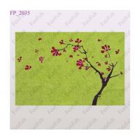 Buy cheap Green wool felt printing design placemats from wholesalers