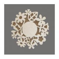 Wholesale Coaster Flower felt coaster in laser cut from china suppliers