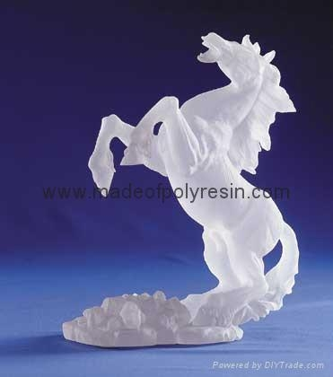 Frosted horse crafts polyresin frosted gifts frost arts of for Horseshoe crafts for sale
