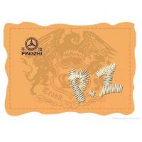 Wholesale leather label,embroidery logo from china suppliers
