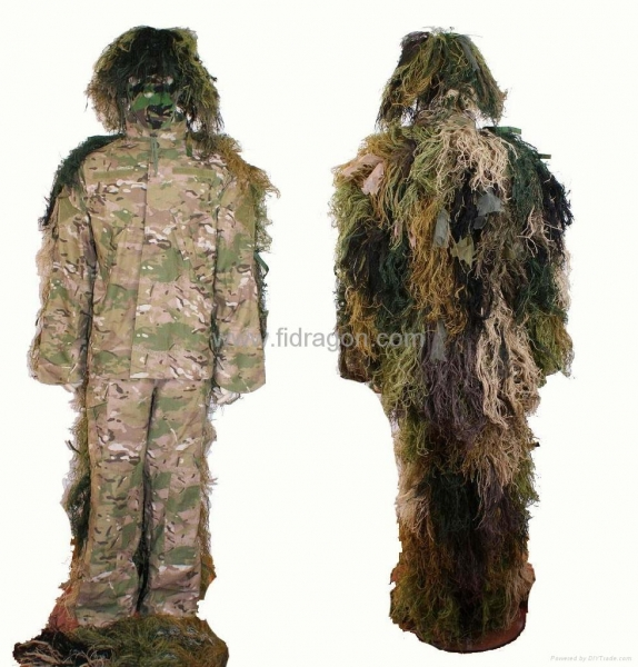 Quality ST77 ghillie suit with uniform for sale