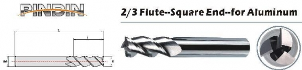 Quality 2/3FSquare end mill for sale