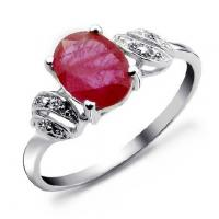 Wholesale 925 silver plated platinum nature ruby ring from china suppliers
