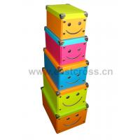 Wholesale Smiling Face Paper Foldable Storage Box from china suppliers