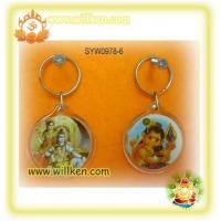 China SYW0978-6 Key chain with hindu god photo on sale