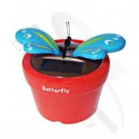 Wholesale solar solar flowerpot butterfly from china suppliers