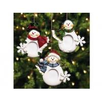 Wholesale Polyresin Ornaments Resin Snowmen Photo Frame Ornaments from china suppliers