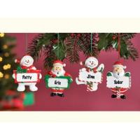 Wholesale Polyresin Ornaments Resin Santa and Snowman Ornaments from china suppliers