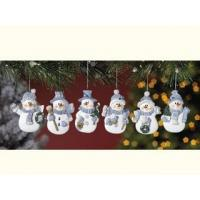 Wholesale Polyresin Ornaments Resin Blue Snowman Ornaments from china suppliers