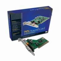Add on Card Mode Number:CMI 8738 4 channel PCI Sound CardProduct CMI 8738 4.1 channel PCI Sound CardChipset: CMI8738; System interface: 32bit PCI Bus Master, PCI12.1, PCI12.2 complian; Provides audio fidelity that rivals movie theaters with 4-ch for sale