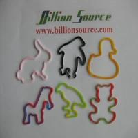 China Cute animals outline opaque rubber bands on sale