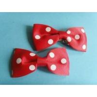 China Polka dot printing grosgrain ribbon hair bows on sale