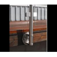 Side mounted stainless steel railing design for balcony and deck