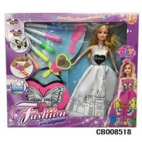 Girl Toys diy painting doll