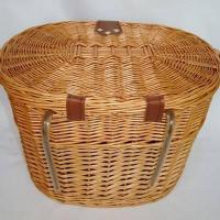 China wicker bicycle basket on sale