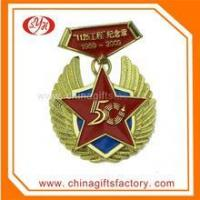 China Metal Crafts production zinc alloy gold plated award custom crystal medal on sale