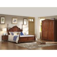 China Antique wood bed american country style on sale