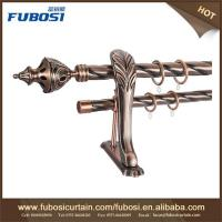 China New designs decorative curtain poles tracks luxury curtain rods on sale