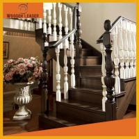 Solid wood stair pedals and railings 6