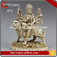 China Animal Statues Polyresin hinduism durga sculpture hindu god statue on sale