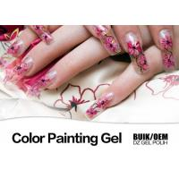 China Harmless Gel Nail Paint Polish Strong Adhesion MSDS / SGS Authentication on sale