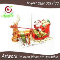 Buy cheap Glass Santa Sleigh And Reindeer Decorations And Ornament For Christmas from wholesalers